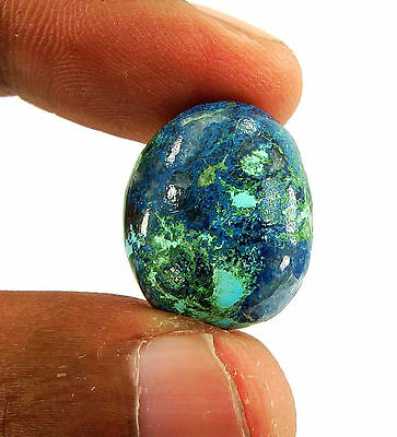 18.30 Ct Natural Blue Azurite Loose Gemstone Cabochon  Designer Stone - 14792