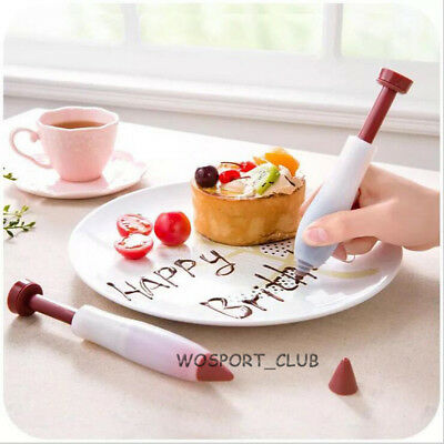 Silicone Pen Cake Cookie Chocolate Food Writing Drawing Painting Decor Tool NEW