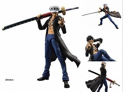 One Piece Figma Trafalgar D Water Law Movable Action Figure Toy Collection Doll