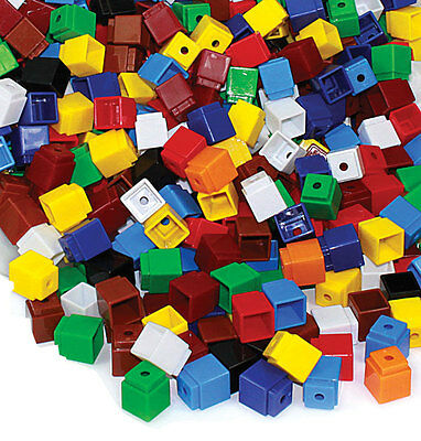 Unifix Cubes Blocks 200p Maths Teacher Resource Numeracy School Games Learning