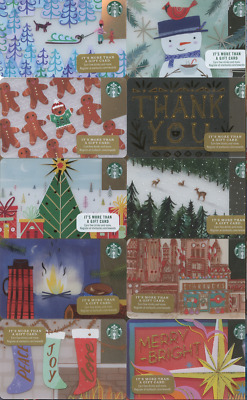 NEW 2017 Starbucks Cards 56 Complete Holiday Christmas Set Lot OF ALL 56