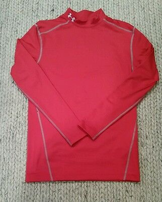 Men's NWOT Under Armour Cold Gear Compression Shirt Size Large Red