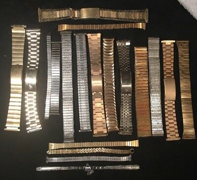 Lot Of 19 Assorted Vintage Mens And Ladies Watchbands