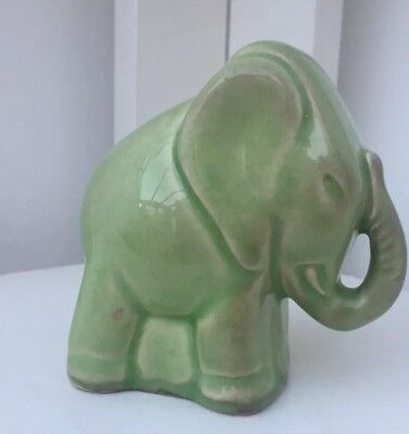 Vintage Art Deco style ceramic pottery elephant. Fantasia Disney ?
