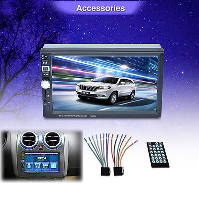7 Double Din Touchscreen In Dash Car 1080P Stereo Radio Mirror Link Mp5 Player