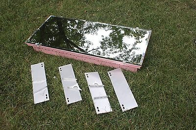Vtg Metal Medicine Cabinet 4 Shelf Bathroom Vanity Mirror Wall Recessed Pink #1
