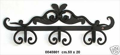 Coat hangers clothes hook a 3 places wrought iron wall style classic