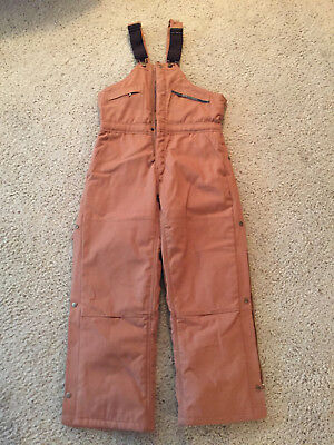 Key Insulated Duck Bib Overall, Hip Zip Water and Stain Repellent size small