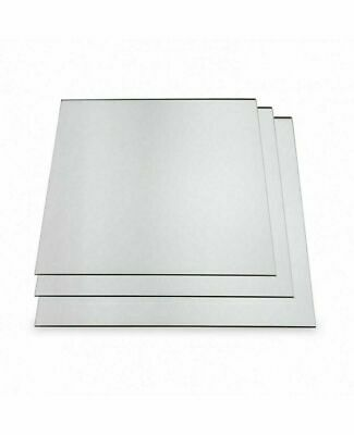 Silver Acrylic Mirror Perspex Sheet Plastic Material Panel Cut to Size