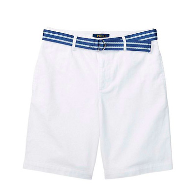 New Polo Ralph Lauren Boys Chino Shorts White Size 14, 18, and 20