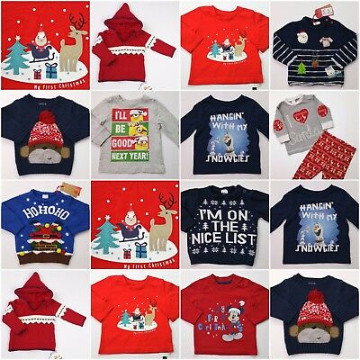 Boys/Girls Build a Bundle Christmas XMAS Jumper Babygrows Outfits 3-6 Mths NEXT