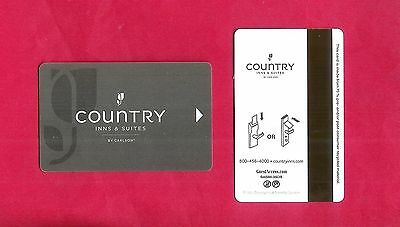 KEYCARD Hotel Schlüssel Tür karte Room Key ~ COUNTRY INN & SUITES BY CARLSON USA
