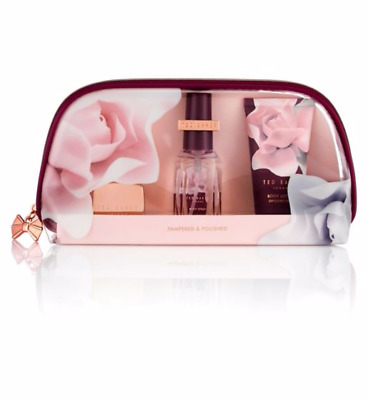 Ted Baker Pampered and & Polished Beauty Bag Christmas Gift Set Ladies Women