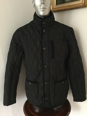 Brand New Men's Size M Navy Blue Quilted Coat Jacket