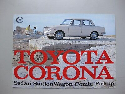 Toyota Corona Sedan Combi Pick up Prospekt brochure English language 1965