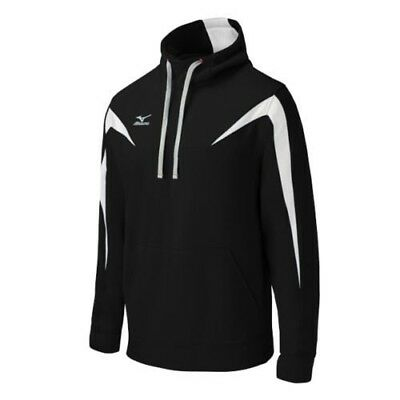 (X-Large, Black/White) - Mizuno Elite Thermal Hoodie. Shipping Included