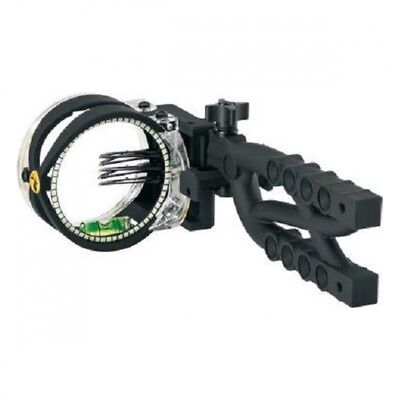 Trophy Ridge Cypher 5 5-Pin Compound Bow Sight Ambidextrous Black, AS605