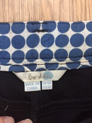 Boden Black Trousers Size 10R Zip At Bottom Vgc