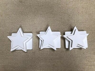 Pottery Barn Star Quilt Clips - Set Of 3