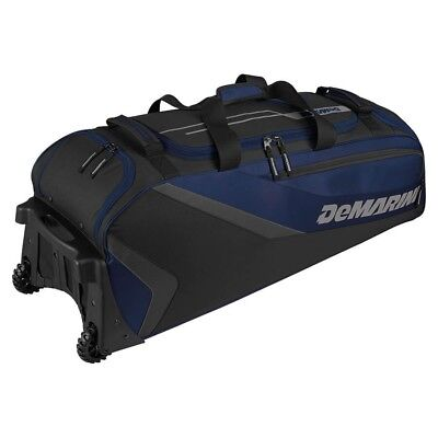 (navy) - DeMarini Grind Wheeled bag. DeMarini Sports. Free Shipping