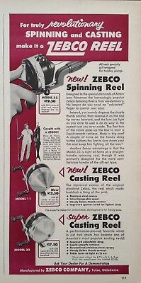1955 Ad(Odl22)~Zebco Co. Tulsa, Ok. Zebco Spinning And Casting Reel