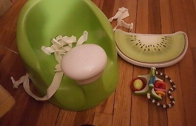 Prince Lionheart bebePOD Flex Plus Baby Seat - Green. With original box and toy
