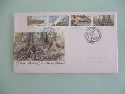 christmas island  1993 fdc  scenic views of christmas island