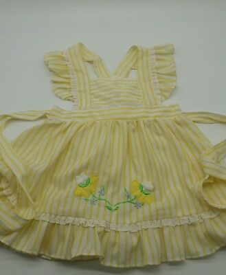 Vintage baby girl toddler pinny  dress