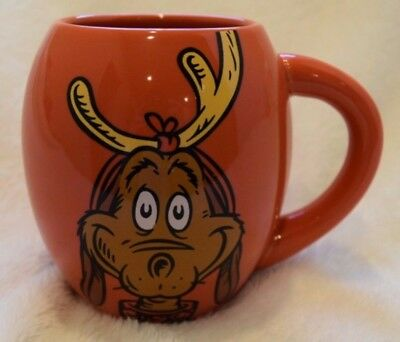 Dr Seuss Max Dog Who Whoville Red Collectible Holiday Coffee Oval Mug Cup