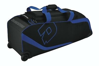 (Royal Blue) - DeMarini ID2P Bag on Wheels. Free Delivery