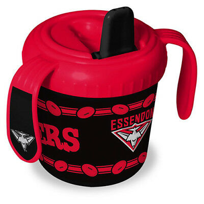 Essendon Bombers AFL Training Sipper Sippy Cup With 2 Easy Grip Handles Gift