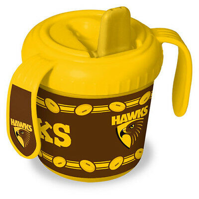 Hawthorn Hawks AFL Training Sipper Sippy Cup With 2 Easy Grip Handles Gift