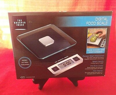 The Sharper Image Digital Food Scale Precision Up to 11lbs 5kg One Touch Control