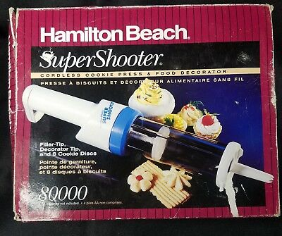 Hamilton Beach super shooter cookie press and food decorator