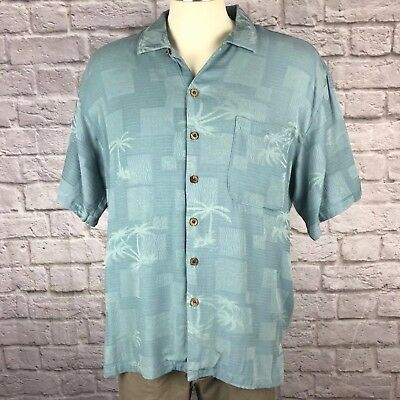 Tommy Bahama Button Front Casual 100% Silk Shirt, Men's Size M (MS-132)