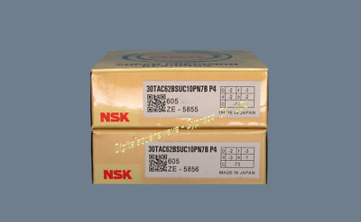 NSK 30TAC62BSUC10PN7BP4 Abec7 Precision Ball Screw Bearings.Matched Set of Two