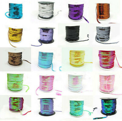 DIY 5M Shiny Faceted Loose Sequins Paillettes Sewing Wedding Craft 6mm