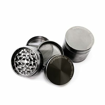 Chromium Crusher 2 Inch 4 Piece Tobacco Spice Herb Grinder - Gun Metal
