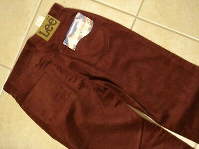 vtg 70s Lee Riders NOS  Maroon Corduroy Pants Jeans USA straight 29 X 34 Talon