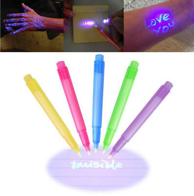 Creative Invisible Ink Spy Pen With Built in UV Light Magic Marker Secret Fr Kid