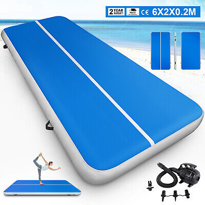 6x20ft Air Track Floor Home Inflatable Gymnastics Tumbling Mat GYM