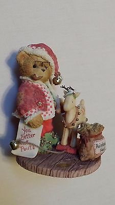 "Cherished Teddies ""Wendall"" Have You Been Naughty or Nice/2001 Christmas"