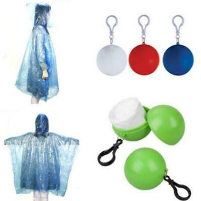 Portable Raincoat Disposable Rain Jacket Windproof Poncho Rainwear Keyring Ball
