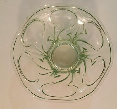 Early 20th Century Glass Bowl With Art Nouveau Style Design