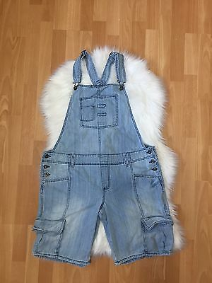 Old Navy Denim  Overall shorts Size XL light vintage style wash jumper