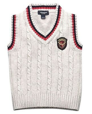 (3-4 Year Old/L, Grey 2) - Sweater Vest for Toddler Boys Cable-Knit Spring