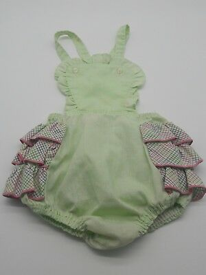 Vintage baby girl toddler romper sunsuit