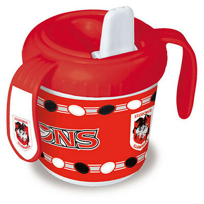 St George Illawarra Dragons NRL Training Sipper Sippy Cup With 2 Grip Handles