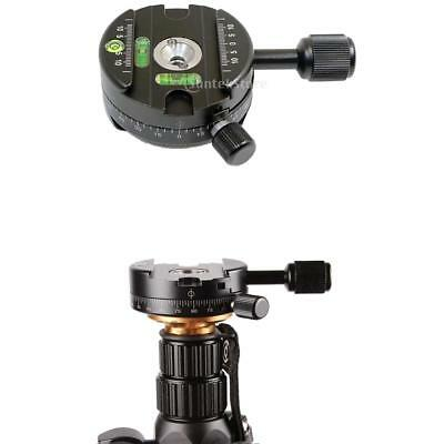 Heavy Duty 360°Panoramic Tripod Head with QR Plate for DSLR Monopod Tripods