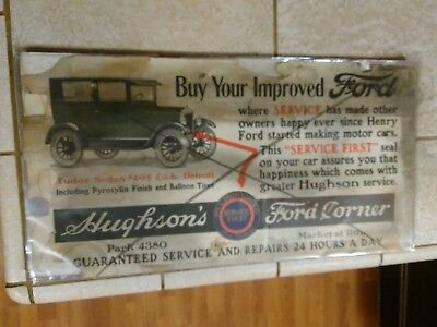 Vintage Ford Model T Dealership Advertisement
